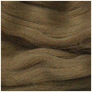 Prekės kodas AG6005.Akrilo gijų pluoštas veltinių dekoravimui. Spalva - rudai žalia. Pakuotėje 10 gramų.