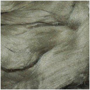 Prekės kodas AG7005. Akrilo gijų pluoštas veltų gaminių dekoravimui. Spalva - žalsvai pilka. Pakuotėje 10 gramų.