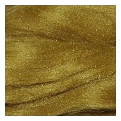 Prekės kodas AG1033.Akrilo gijų pluoštas veltinių dekoravimui. Spalva - garstyčių. Pakuotėje 10 gramų.