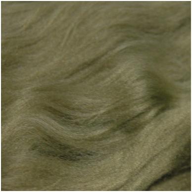 Prekės kodas AG7032. Akrilo gijų pluoštas veltų gaminių dekoravimui. Spalva - rusvai pilka. Pakuotėje 10 gramų.