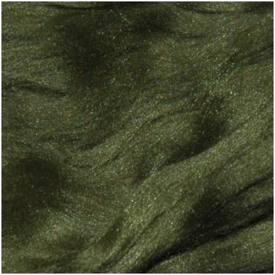 Prekės kodas AG6002.Akrilo gijų pluoštas veltinių dekoravimui. Spalva - samaninė. Pakuotėje 10 gramų.