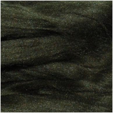 Prekės kodas AG6003.Akrilo gijų pluoštas veltinių dekoravimui. Spalva - tamsi samaninė. Pakuotėje 10 gramų.
