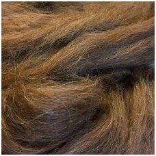 Alpaca wool tops 50g. ± 2,5g. Color - chestnut brown.