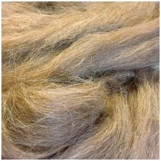 Alpaca wool tops 50g. ± 2,5g. Color - natural brown.