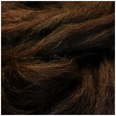 Alpaca wool tops 50g. ± 2,5g. Color - black.