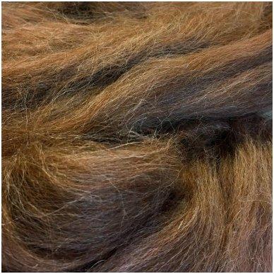 Alpaka sluoksna, natūrali, ruda kaštonu. Pakuotėje 50 gramų.