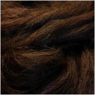 Alpaka sluoksna, natūrali,tamsiai ruda. Pakuotėje 50 gramų.