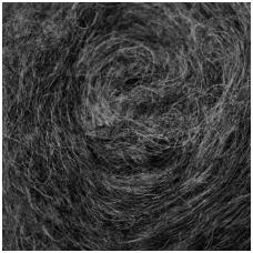 Tyrol carded wool 50g. ± 2,5g. Color - dark gray melange, 27 - 32 mik.