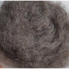 Tyrol carded wool 50g. ± 2,5g. Color - dark brown melange, 27 - 32 mik.