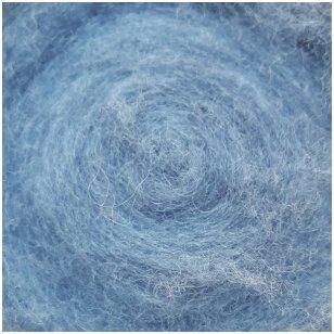 Austrijos Tirolio vilnos karšinys 50 g. ± 2,5 g. Spalva - džinsinė mėlyna, 31 - 34 mik.
