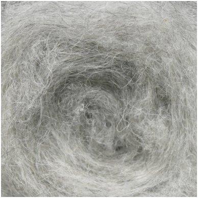 Tyrol carded wool 50g. ± 2,5g. Color - light gray melange, 27 - 32 mik.