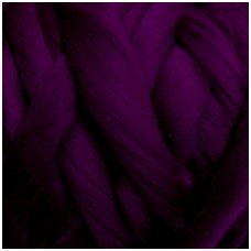 Wool tops 50g. ± 2,5g. Color - aubergine, 26 - 31 mik.