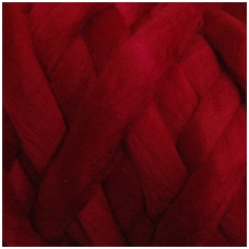Wool tops 50g. ± 2,5g. Color - bordeaux, 26 - 31 mik.