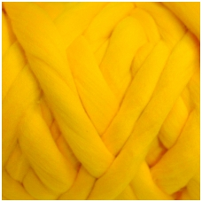Wool tops 50g. ± 2,5g. Color - yellow egg, 26 - 31 mik.