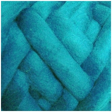 Wool tops 50g. ± 2,5g. Color - turquouse, 26 - 31 mik.