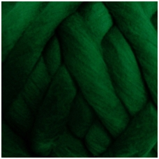Wool tops 50g. ± 2,5g. Color - green, 26 - 31 mik.