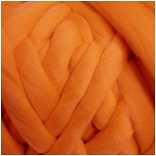 Avių vilnos sluoksna, 50g. ± 2,5g. Spalva - oranžinė, 26 - 31 mik.