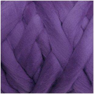 Avių vilnos sluoksna, 50g. ± 2,5g. Spalva - pilkai violetinė, 26 - 31 mik.