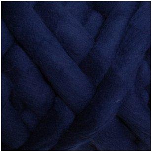 Avių vilnos sluoksna, 50g. ± 2,5g. Spalva - tamsiai mėlyna, 26 - 31 mik.