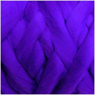 Avių vilnos sluoksna, 50g. ± 2,5g. Spalva - violetinė, 26 - 31 mik.