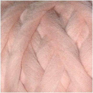 Avių vilnos sluoksna, 50g. ± 2,5g. Spalva - antikinė rožinė, 26 - 31 mik.