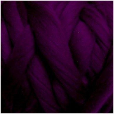Wool tops 50g. ± 2,5g. Color - aubergine, 26 - 31 mik.