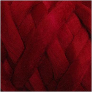 Wool tops 50g. ± 2,5g. Color - bordeaux, 26 - 31 mik.