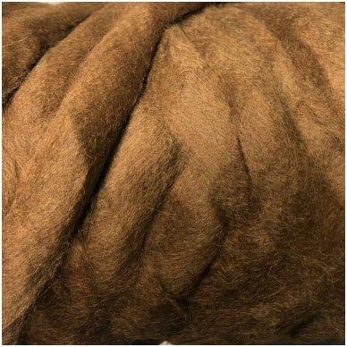 Wool tops 50g. ± 2,5g. Color - brown, 26 - 31 mik.