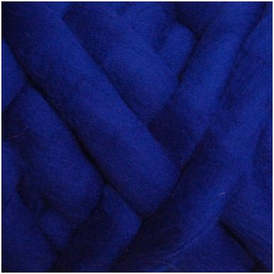Wool tops 50g. ± 2,5g. Color - bluebottle, 26 - 31 mik.