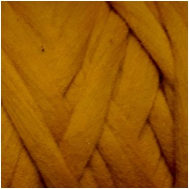 Wool tops 50g. ± 2,5g. Color -dark beige, 26 - 31 mik.
