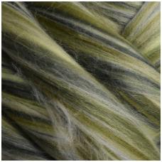 Multicolor Merino tops 50g. ± 2,5g. Colors - green, 20,1 - 23 mik.