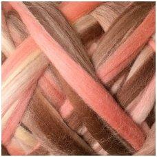 Multicolor Merino tops 50g. ± 2,5g. Colors - pink, purple, 20,1 - 23 mik.