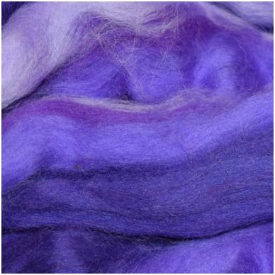 Multicolor Merino tops 50g. ± 2,5g. Colors -purple hues, 20,1 - 23 mik.