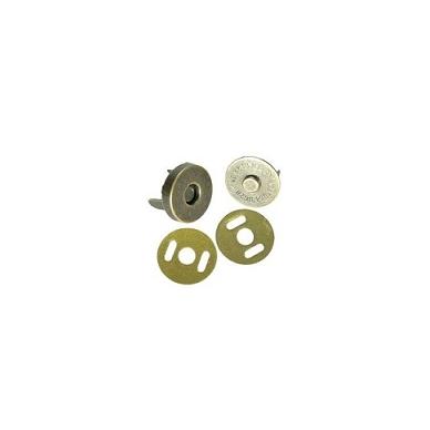 Magnetinis užsegimas rankinei,mažas 1,3 cm skersmens, žalvario  spalvos.