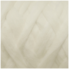 Merino wool space tops 50g. ± 2,5g. Color - white, 20,1 - 23 mic.