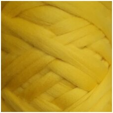 Merino wool space tops 50g. ± 2,5g. Color - yellow, 20,1 - 23 mic.