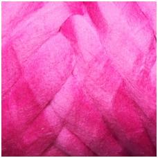 Super fine wool tops 50g. ± 2,5g. Color - cyclamen, 15,6 - 18,5 mik.
