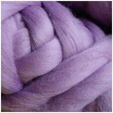 Medium Merino wool tops 50g. ± 2,5g. Color - lilac, 20.1 - 23 mik.