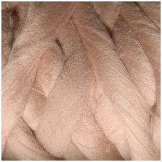 Medium Merino wool tops 50g. ± 2,5g. Color - bleached coffee, 20.1 - 23 mik.