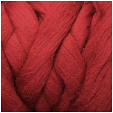 Fine wool tops 50g. ± 2,5g. Color - bordeaux, 18,6 - 20 mik.