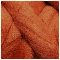 Fine wool tops 50g. ± 2,5g. Color - cinnamon, 18,6 - 20 mik.