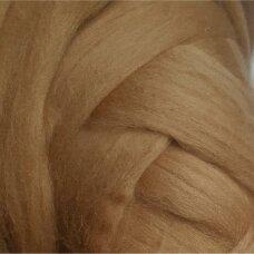Fine wool tops 50g. ± 2,5g. Color - mustard, 18,6 - 20 mik.
