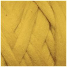 Medium Merino wool tops 50g. ± 2,5g. Color - mustard , 20.1 - 23 mik.