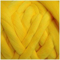 Medium Merino wool tops 50g. ± 2,5g. Color - yellow, 20.1 - 23 mik.
