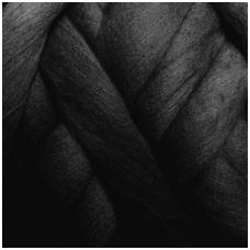 Super fine wool tops 50g. ± 2,5g. Color - black, 15,6 - 18,5 mik.