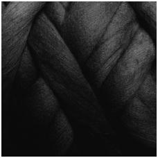 Fine wool tops 50g. ± 2,5g. Color - black, 18,6 - 20 mik.