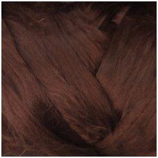 Fine wool tops 50g. ± 2,5g. Color - purplish brown, 18,6 - 20 mik.