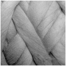 Fine wool tops 50g. ± 2,5g. Color - light grey, 18,6 - 20 mik.