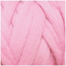 Medium Merino wool tops 50g. ± 2,5g. Color - light pink, 20.1 - 23 mik.