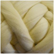 Fine wool tops 50g. ± 2,5g. Color - light beige, 18,6 - 20 mik.